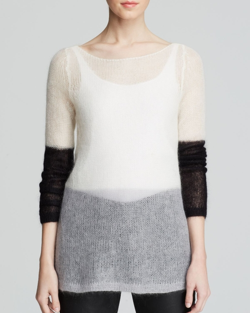Color Block Mohair Sweater by Eileen Fisher in The Good Wife - Season 7 Episode 17