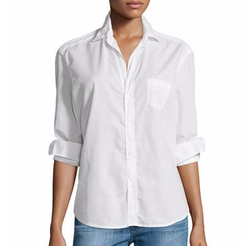 Eileen Button-Front Poplin Shirt by Frank & Eileen in The Fate of the Furious