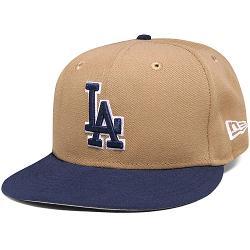Los Angeles Dodgers 2 Tone Basic Khaki/Oceanside by New Era in Million Dollar Arm