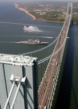 New York City, New York by Verrazano–Narrows Bridge in Marvel's The Avengers