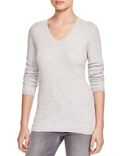 Ribbed V Neck Sweater by Vince in Suits