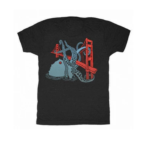 SF Octopus T-Shirt by Gnome Enterprises in Mr. Robot - Season 2 Episode 6