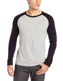 Raglan Long Sleeve Tee Shirt by French Connection in Ex Machina