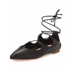 Ambra Lace-Up Ballerina Flats by Loeffler Randall in Imaginary Mary