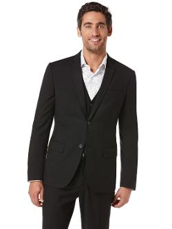 Slim Fit Solid Suit Jacket by PERRY ELLIS in This Is Where I Leave You