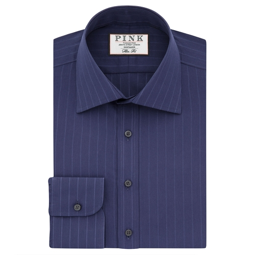 Suffolk Stripe Button Cuff Shirt by Thomas Pink in The Mindy Project