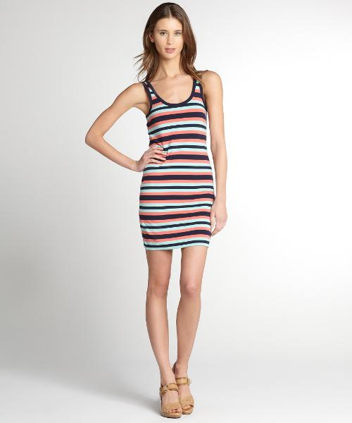 Striped Stretch Cotton 'Space Hopper' Tank Dress by FRENCH CONNECTION in About Last Night