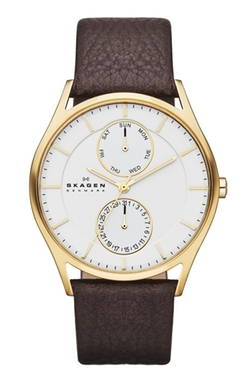 'Holst' Multifunction Leather Strap Watch by Skagen in Daddy's Home