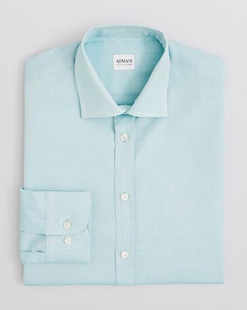 Solid Oxford Dress Shirt by Armani Collezioni in Prisoners
