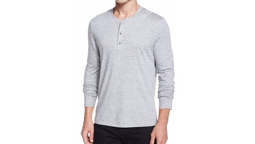 Long-Sleeve Henley Shirt by Vince in The Bachelorette - Season 12 Episode 8