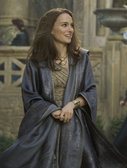 Custom Made Patterned Shawl (Jane Foster) by Wendy Partridge (Costume Designer) in Thor: The Dark World