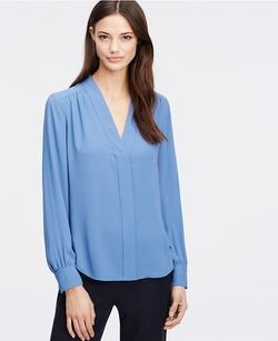 V-Neck Blouse by Ann Taylor in Modern Family