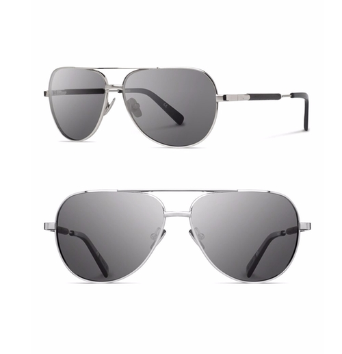 Titanium & Wood Aviator Sunglasses by Shwood in Rosewood - Season 1 Episode 18