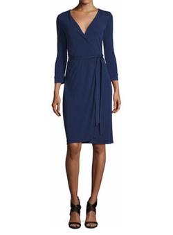 New Julian Two Matte Jersey Wrap Dress by Diane von Furstenberg in How To Get Away With Murder