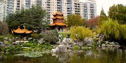 Sydney, Australia (Depicted as Tokyo, Japan) by Chinese Garden of Friendship (Depicted as Japanese Temple) in The Wolverine