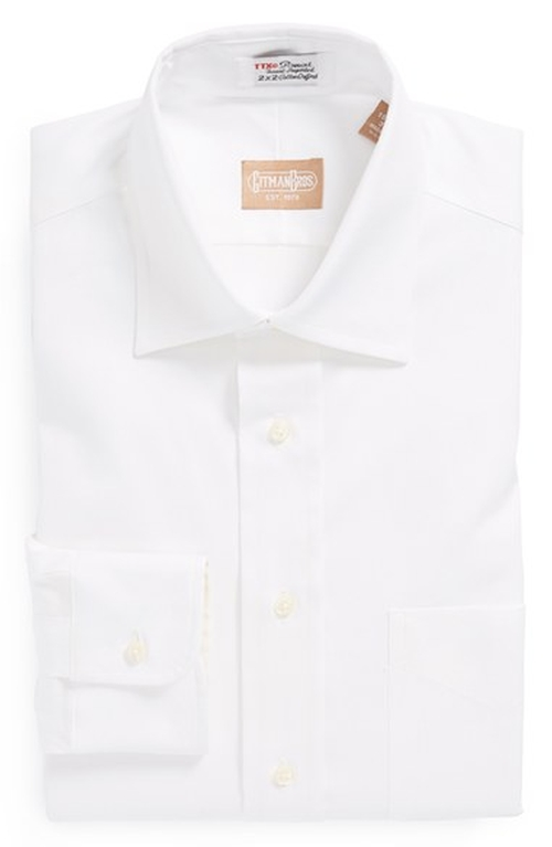 Pinpoint Cotton Oxford Point Collar Dress Shirt by Gitman in Life