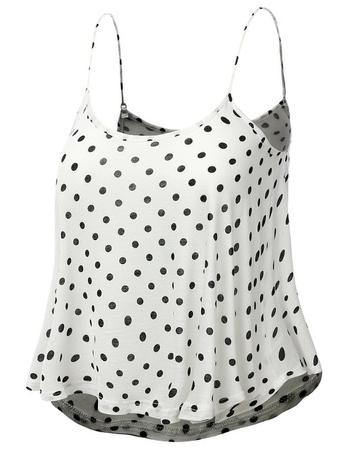 Loose Fit Polka Dot Print Crop Top by J.Tomson in Clueless