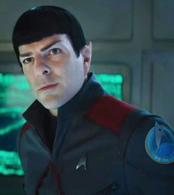 Custom Made Spock Starfleet Blazer Uniform by Sanja Milkovic Hays (Costume Designer) in Star Trek Beyond