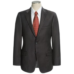 Wide Rope Stripe Suit by Hickey Freeman in The Good Wife