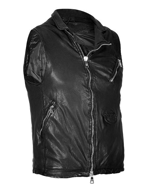 Leather Biker Vest by GIORGIO BRATO in Step Up: All In