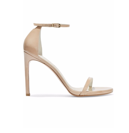 Nudistsong Patent-Leather Sandals by Stuart Weitzman in The Bachelorette - Season 12 Looks