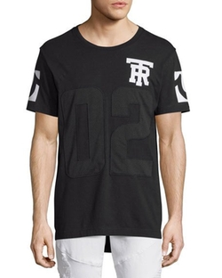 Mesh Football Elongated T-Shirt by True Religion in Office Christmas Party