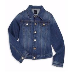 Girl's Manning Faded Denim Jacket by DL1961 Premium Denim in Logan