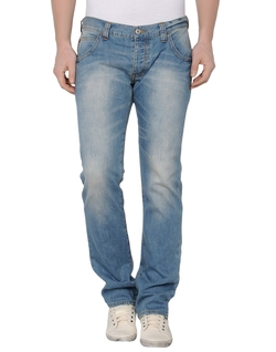 Straight Leg Denim Pants by Armani Jeans in Blackhat