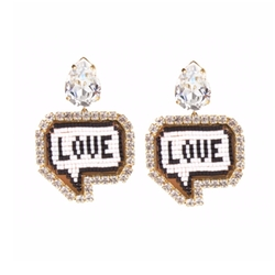 Emojibling Love Earrings by Shourouk in Scream Queens