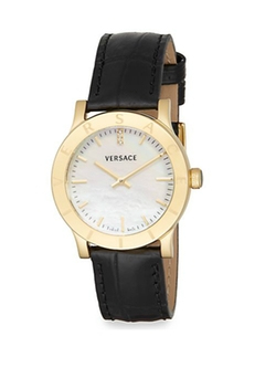 Acron Mother-Of-Pearl Leather Watch by Versace in The Good Wife