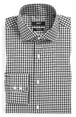 'Gerald' WW Regular Fit Easy Iron Check Dress Shirt by Hugo Boss in Hot Tub Time Machine 2