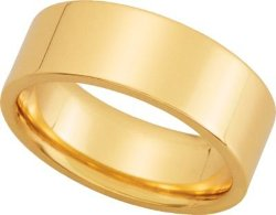14K Flat Comfort-Fit Wedding Band by Jewelplus in Hall Pass