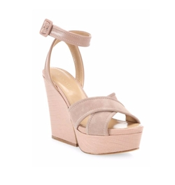 Hannelore Suede & Leather Wedge Sandals by Sergio Rossi in Fuller House