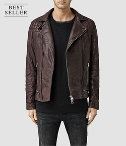 Conroy Leather Biker Jacket by All Saints in The Flash