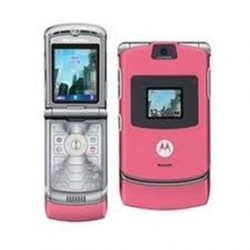Razr V3 Pink Thin Flip Phone by Motorola in Pitch Perfect 2