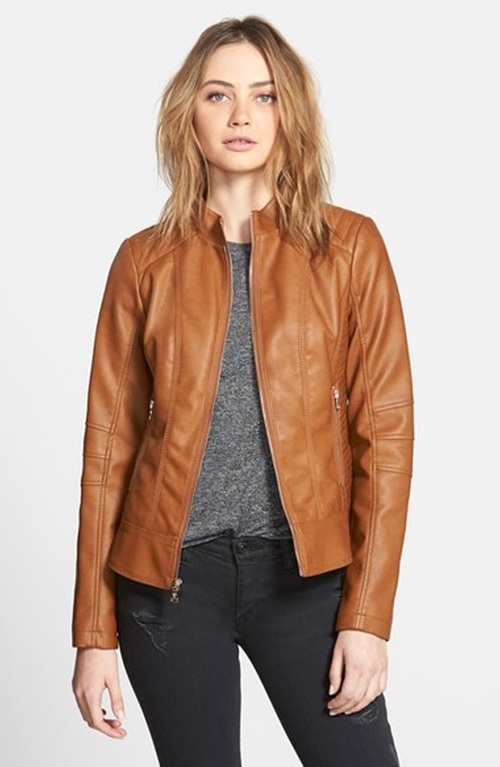 Faux Leather Scuba Jacket by Guess in Sex and the City