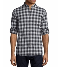 Check Roll-Tab Woven Shirt by John Varvatos Star USA in Modern Family