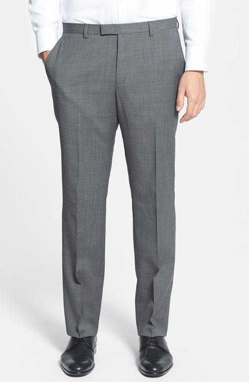 Sharp Flat Front Trousers by Hugo Boss in The Other Woman