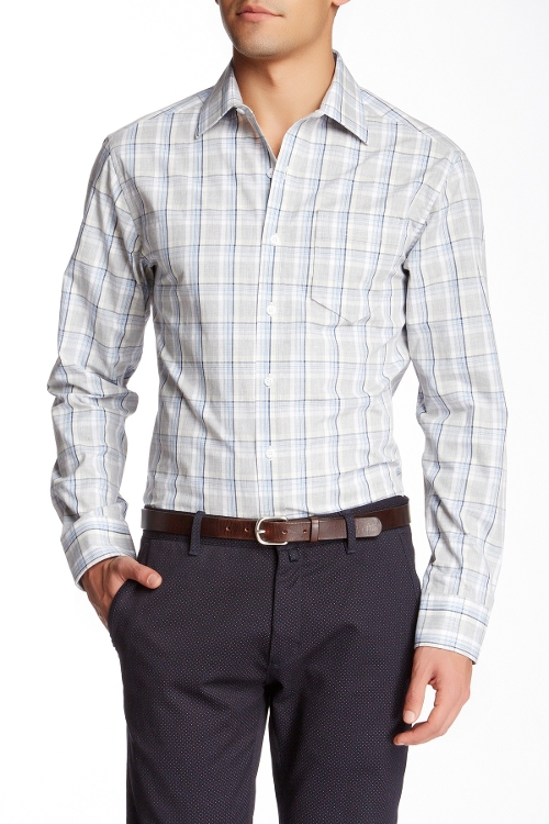 Long Sleeve Plaid Sport Shirt by Vince Camuto in Ted 2