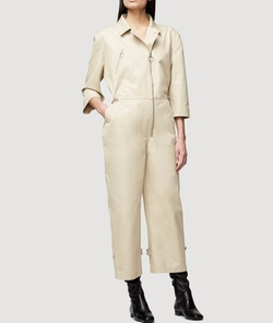 Trench Jumpsuit by Frame in Murder on the Orient Express