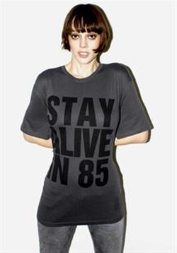 Stay Alive in 85 Shirt by Katharine Hamnett in Sex and the City