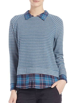 Keala Layered Striped Sweater by Soft Joie in Modern Family