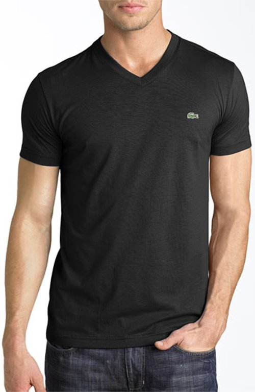 V-Neck Pima Cotton T-Shirt by Lacoste in Furious 7