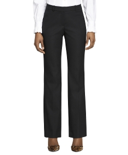 Petite Lucia  Fit Wool Trousers by Brooks Borthers in The Gift