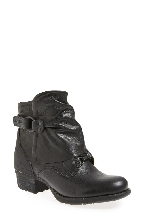 Shiloh Cuff Leather Bootie by Merrell in Ouija
