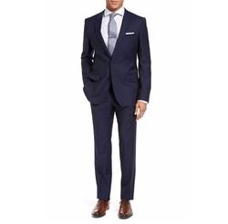 Huge/Genius Trim Fit Navy Wool Suit by Boss in Jack Ryan