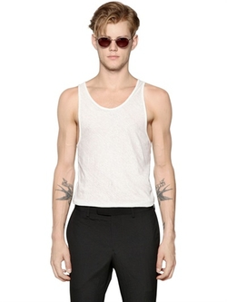 Waxed Linen Jersey Tank Top by John Varvatos in She's Funny That Way