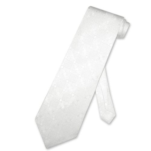Silk White Necktie w/ Design by St. Loren in Crazy, Stupid, Love.