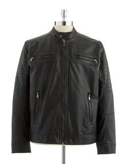 Faux Leather Bomber Jacket by Calvin Klein in Wish I Was Here