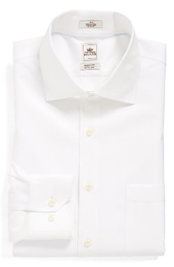 'Nanoluxe' Regular Fit Dress Shirt by Peter Millar in Begin Again
